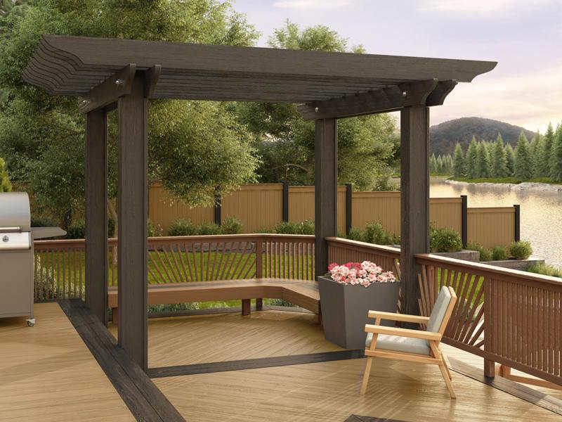 10' x 12' ... - Lifetime Lumber Composite Pergola Kits