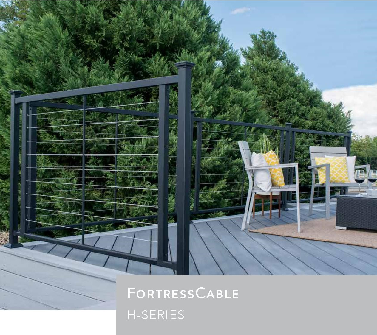 Fortress Vertical Horizontal Cable Rails
