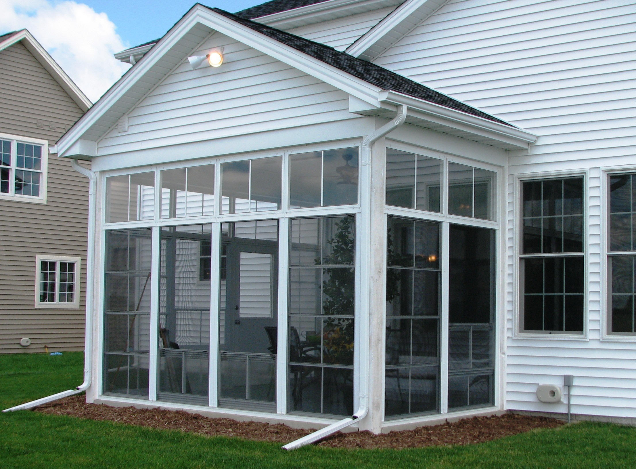 screened porch front antique systems home exterior to enclosures regard with screen then in ideas