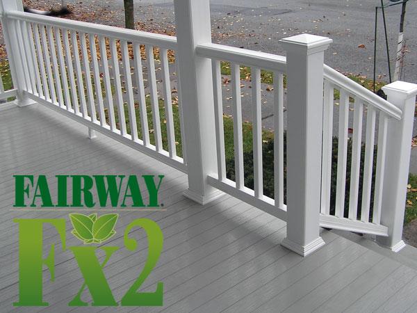 fairway vinyl contour composite railing w square balusters at deck builder outlet online store. Black Bedroom Furniture Sets. Home Design Ideas