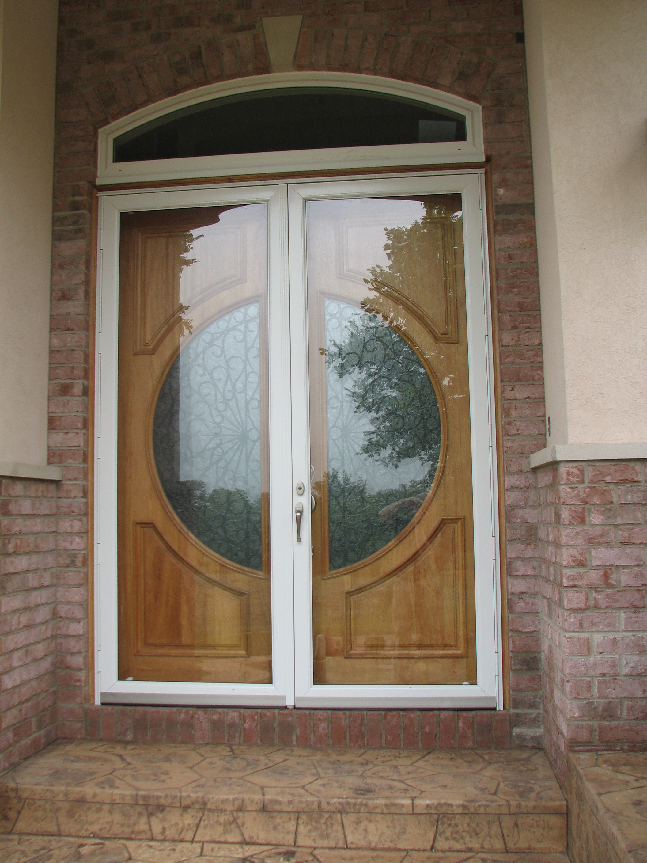 Styleline thermal vue storm and screen doors for Storm doors for french doors
