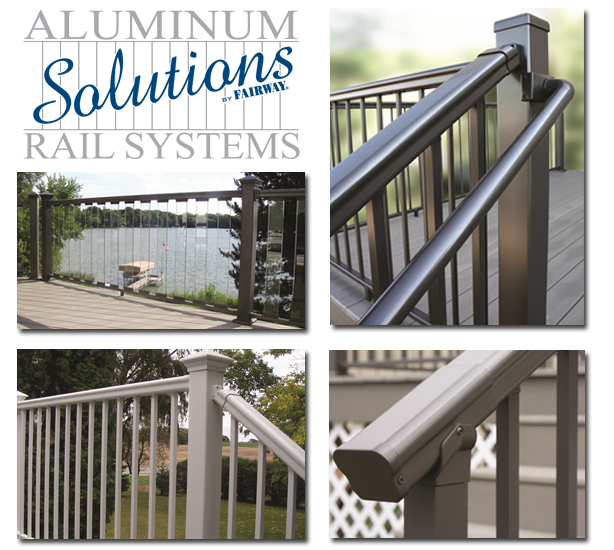 Solutions aluminum railing kits
