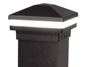 DekPro Lighted Aluminum Pyramid post cap