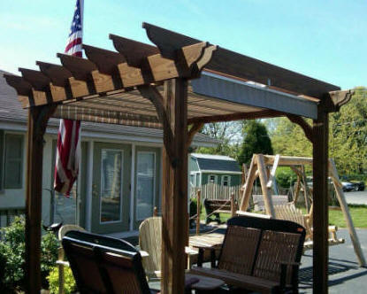 Ecovantage pergolas for 10 x 8 deck plans
