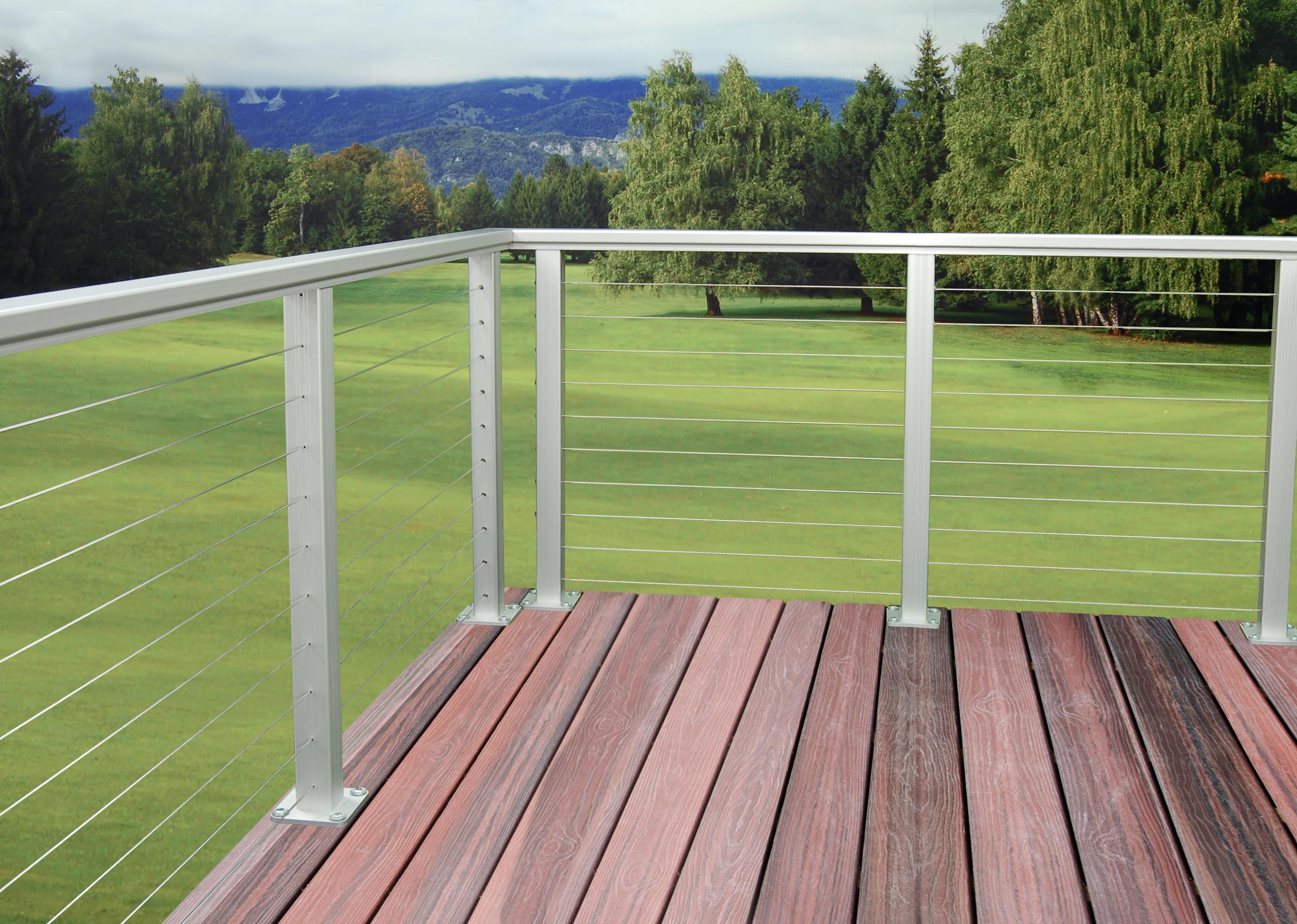 as d aluminum railing cable rail system