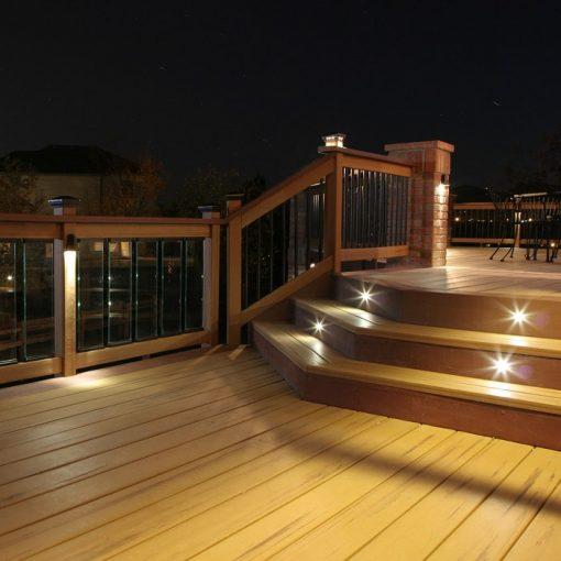 Patios Outdoor Lighting DEKOR Dek Dots Recessed LED Deck Lights for Porches