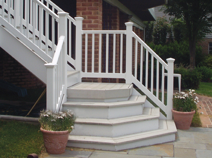 Fairway Vinyl Contour Vinyl Railing At Deck Builder Outlet
