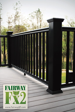 Fairway Vinyl Contour Composite Railing W Square