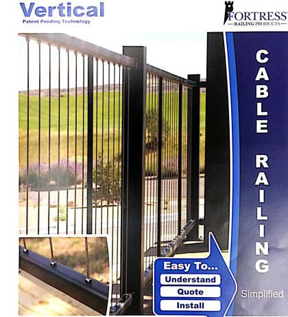 fortress vertical cable rails at deck builder outlet. Black Bedroom Furniture Sets. Home Design Ideas