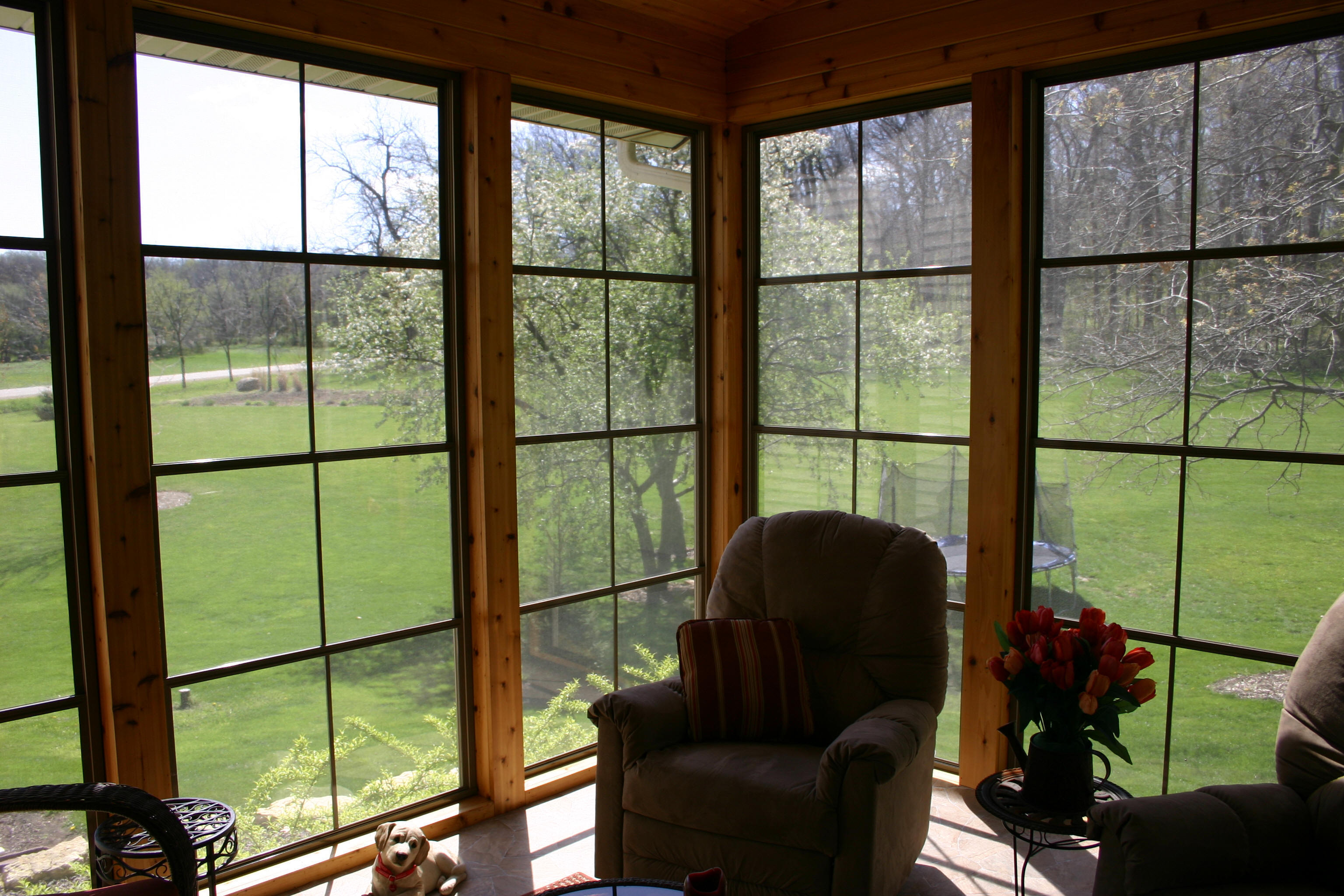 4 Track Vinyl Custom Windows In Aluminum Frames
