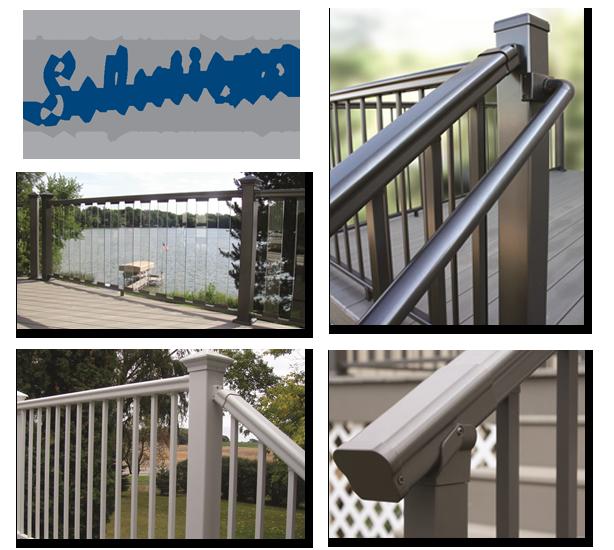 Aluminium Railing Systems : Aluminum powder coated railing