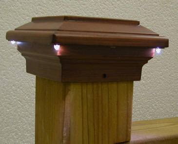 Aurora deck lighting post cap lights at deck builder outlet online store pegasus solar led post cap aloadofball Images