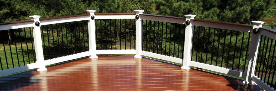 Deck Board Cap Railings with 3/4