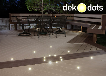 Dekor dekdots recessed led deck lights