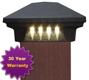 Dekor aluminum post caps with led lighting 30 10 year warranty aloadofball Choice Image