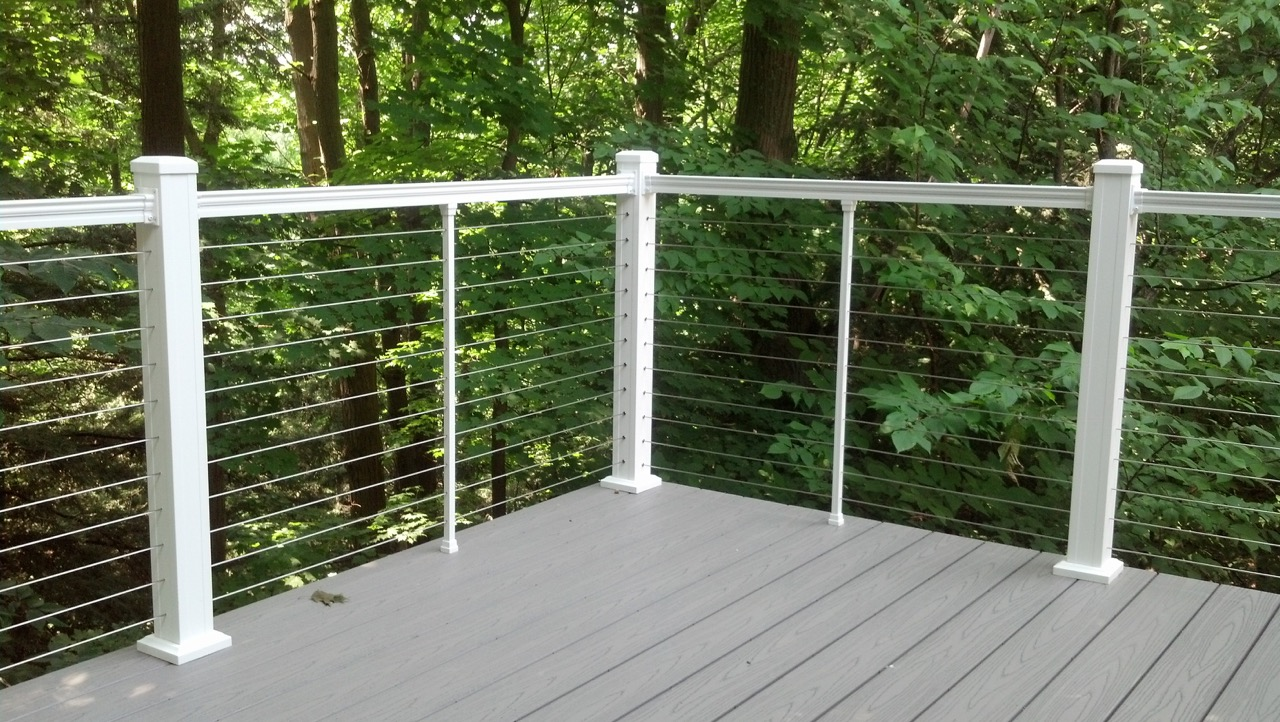 Aluminium Railing Systems : Jam systems aluminum railings with stainless steel cable