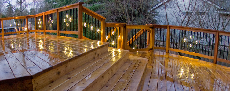 Dekor square balusters at lighted aluminum balusters stunning accent lighting for deck balcony stairs aloadofball Images