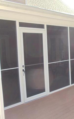 Beau Aluminum Screened Porch   Screen Door Panel